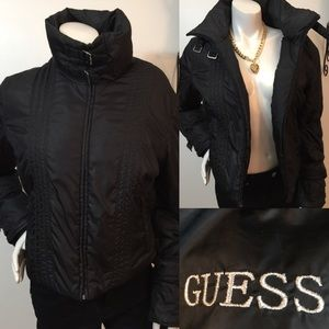 GUESS Down Feather Puffer Biker Style Jacket!